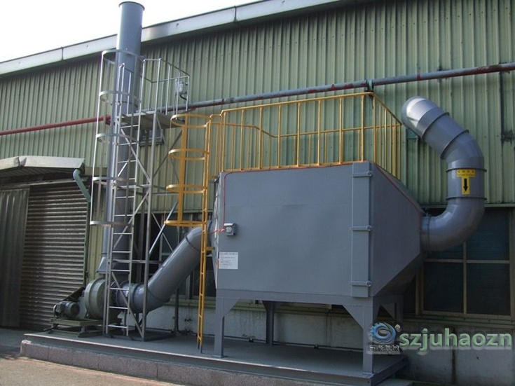 Activated carbon exhaust gas purification system